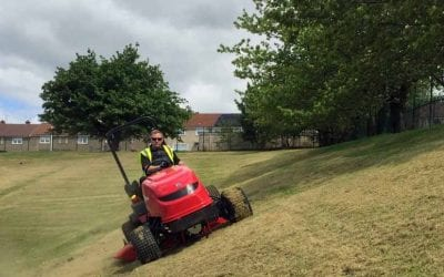 Shibaura slope mower saves time and money
