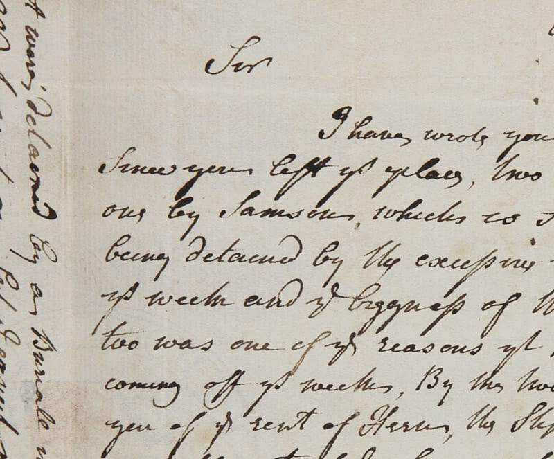 Excerpt of a Boswell letter